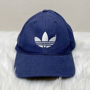 New Adidas Embroidered Logo Navy Adjustable Hat